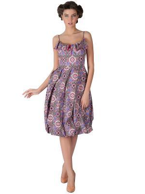 Платье Ksenia Knyazeva. Цвет: сиреневый, белый, черный, голубой