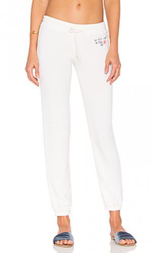 Свободные брюки aloha hibiscus bliss Spiritual Gangster. Цвет: ivory