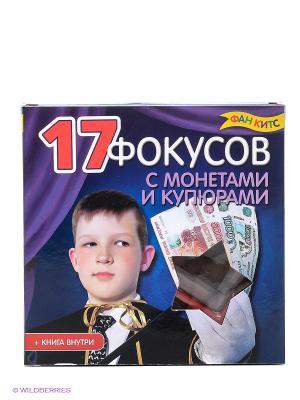 17 фокусов с монетами и купюрами Fun kits. Цвет: фиолетовый