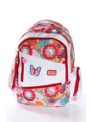 Рюкзак Vittorio Richi. Цвет: белый, красный
