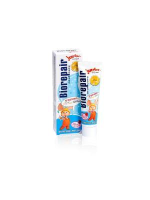 Детская зубная паста BIOREPAIR  Junior Gold for Kids. Цвет: белый