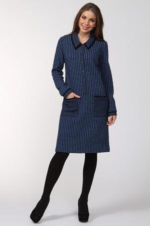 Платье Gouache. Цвет: синий