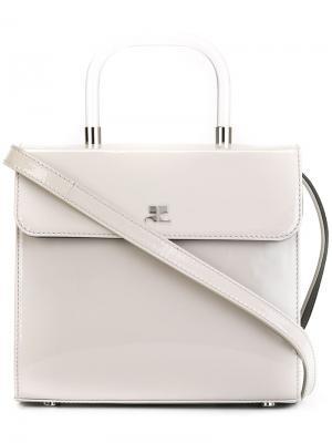 Квадратная сумка на плечо Courrèges. Цвет: серый