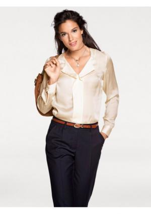 Блузка PATRIZIA DINI. Цвет: коньячный, молочно-белый