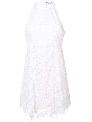 Embroidered flared dress Alice+Olivia. Цвет: белый