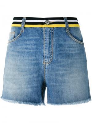 Embellished back shorts Ermanno Scervino. Цвет: синий