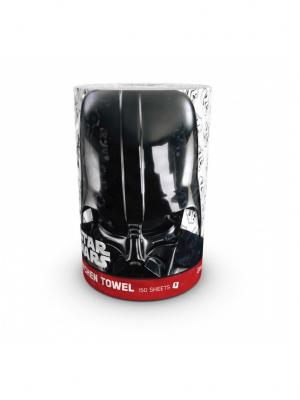 Полотенце кухонное Star Wars 3-х слойное, 1 рулон, 150 листов, 34.5 м World Cart. Цвет: белый