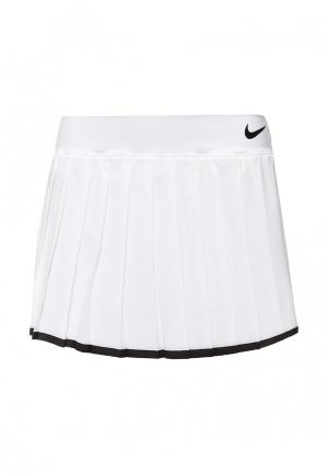 Юбка Nike. Цвет: белый