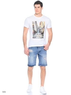 Джинсовые шорты Adidas. Цвет: синий