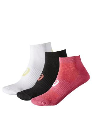 Носки 3PPK PED SOCK ASICS. Цвет: черный, белый, лиловый