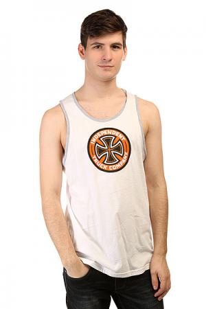 Майка  Colored T/C Tank White/Athletic Heather Independent. Цвет: белый