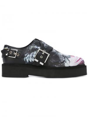 Туфли монки с принтом Alexander McQueen. Цвет: чёрный