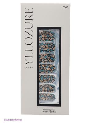 Лаковый стикер для ногтей Гламур , тон  67 ИЛЛОЗУР. Цвет: бежевый, синий, черный