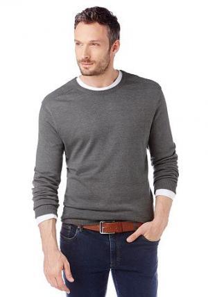 Пуловер, Grey Connection. Цвет: серый меланж