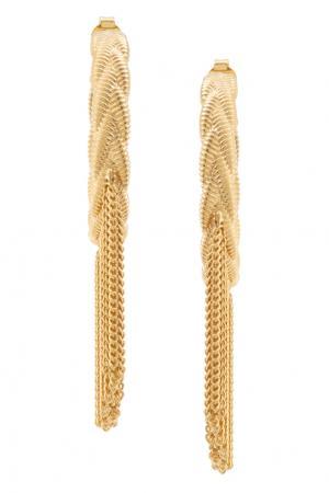 Серьги Lily Hoops Ca&Lou. Цвет: золотой