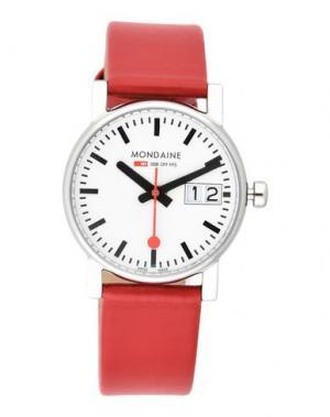 Наручные часы MONDAINE. Цвет: красный