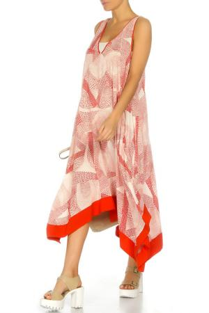 Платье DKNY. Цвет: оранжевый
