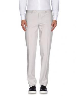 Повседневные брюки BRIAN DALES. Цвет: светло-серый