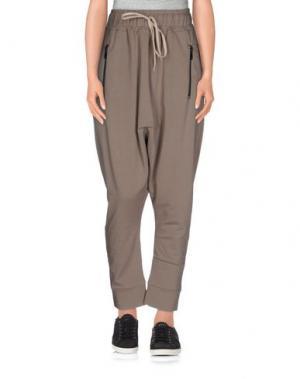 Повседневные брюки MNML COUTURE. Цвет: голубиный серый