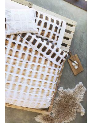 Комплект постельного белья Тост 150х200см SNURK. Цвет: белый, черный, бежевый