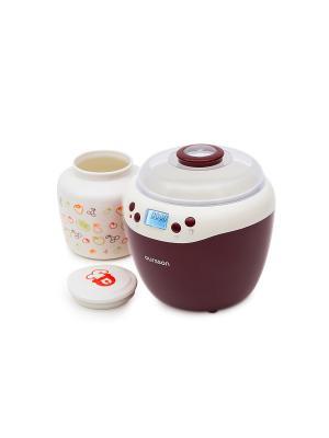 Йогуртница-ферментатор OURSSON. Цвет: темно-бордовый