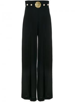 Двухслойные брюки-палаццо Stefano De Lellis. Цвет: чёрный