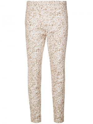 Printed skinny trousers Andrea Marques. Цвет: none
