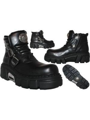 Ботинки New Rock. Цвет: черный