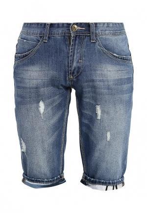 Шорты джинсовые Kruebeck. Цвет: синий