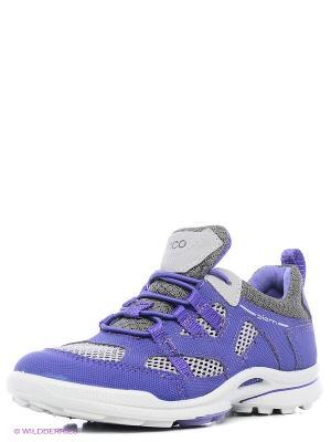 Кроссовки ECCO. Цвет: серый, фиолетовый