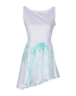 Короткое платье LORELLA SIGNORINO. Цвет: белый