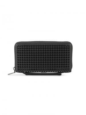 Large spike-embellished wallet Christian Louboutin. Цвет: чёрный