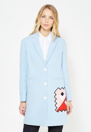 Пальто Ice Play. Цвет: голубой