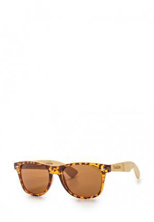 Очки солнцезащитные True Spin. Цвет: коричневый