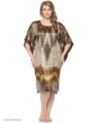 Платье - туника Del Fiore. Цвет: бежевый, коричневый