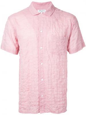 Рубашка Malick YMC. Цвет: розовый и фиолетовый