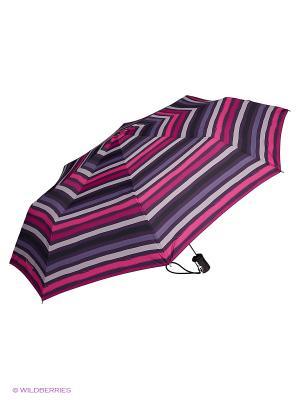 Зонты Isotoner. Цвет: белый, розовый, фиолетовый, черный