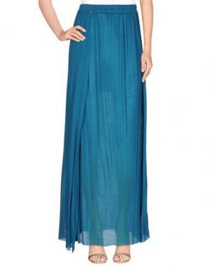 Длинная юбка MANILA GRACE DENIM. Цвет: бирюзовый