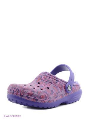 Сабо CROCS. Цвет: фиолетовый, розовый, темно-фиолетовый