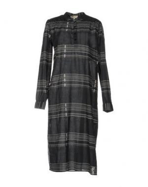 Платье до колена LOCAL APPAREL. Цвет: стальной серый