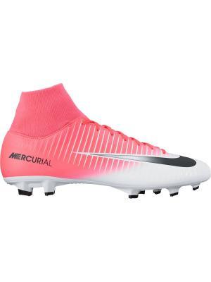 Бутсы MERCURIAL VICTORY VI DF FG Nike. Цвет: розовый, белый, черный