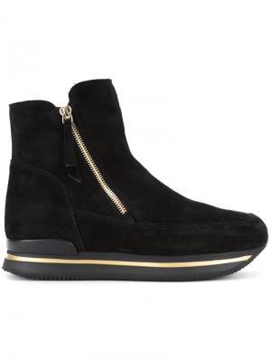 Ботинки по щиколотку Hogan. Цвет: чёрный