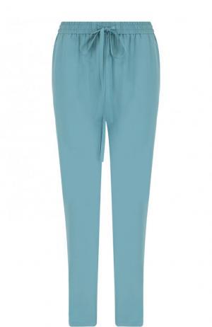 Укороченные однотонные брюки прямого кроя REDVALENTINO. Цвет: голубой