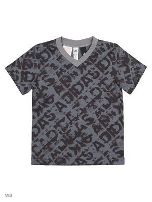 Футболка спортивная дет. YB AA HLG TEE  ONIX/UTIBLK/BLACK Adidas. Цвет: черный