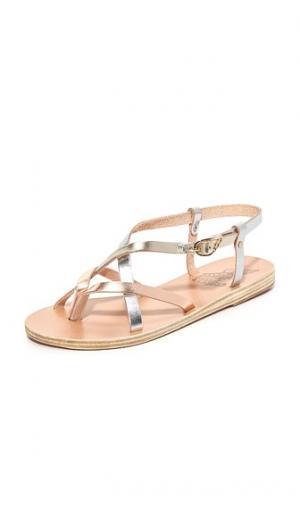 Сандалии Semele Ancient Greek Sandals. Цвет: розовый металл/серебристый/платиновый
