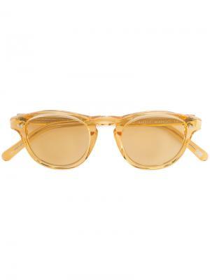 Солнцезащитные очки See Thru Chimi. Цвет: жёлтый и оранжевый