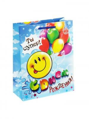 Пакет подарочный с музыкой А М Дизайн. Цвет: бирюзовый, желтый, светло-голубой