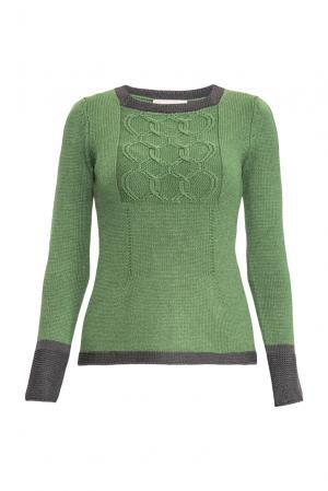 Джемпер из шерсти с шелком 154533 Sweet Sweaters. Цвет: зеленый
