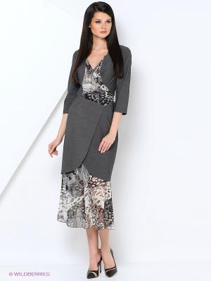 Костюм (платье+юбка) ADZHEDO. Цвет: серый