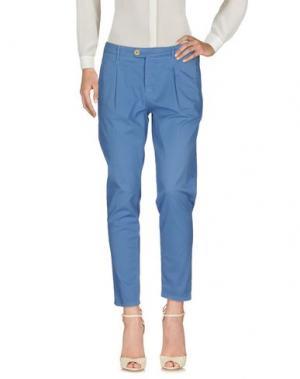 Повседневные брюки OAKS. Цвет: лазурный